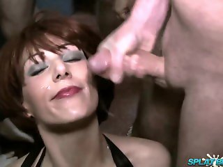Bukkake , Cumshot , Facial , Group Sex