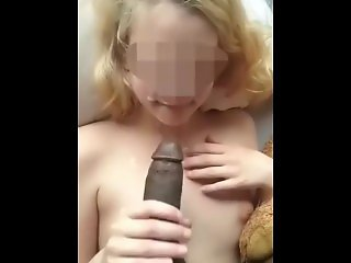 Amateur , Blonde , Cumshot , Interracial