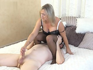 BDSM , Foot Job , Handjobs , Stocking