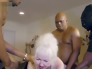 18 year old , Big Cock , Grannies , Interracial