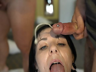 Bukkake , Cumshot , Facial , Gang bang