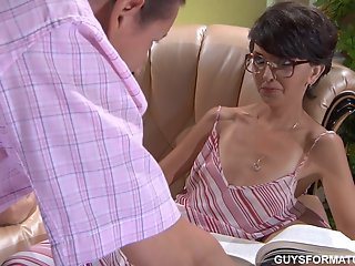 Creampie , Cumshot , Mature , Stocking