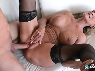 Blonde , Cumshot , Mature , Stocking