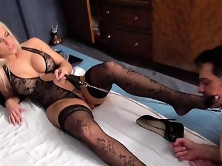 BDSM , Blonde , Stocking