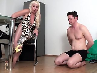 BDSM , Blonde , Foot Job