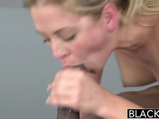 Big Cock , Blonde , Interracial , Sucking