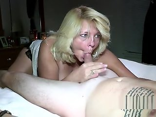 Blonde , Mature , Private , Sucking